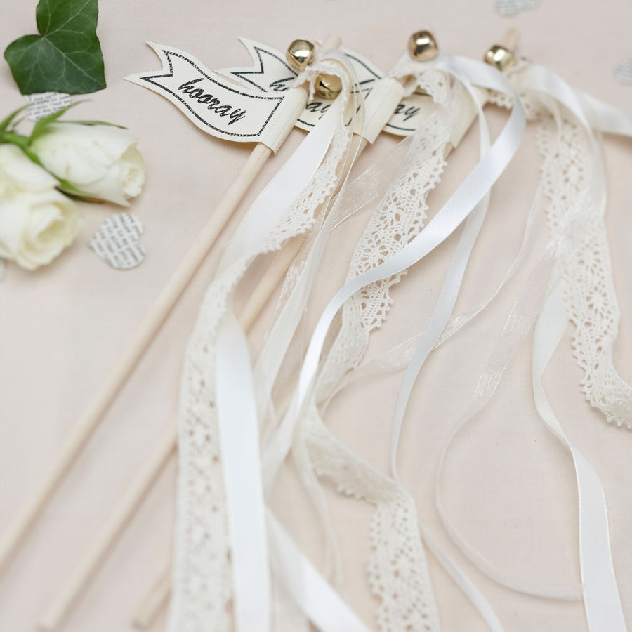 """A Vintage Affair""  Wedding Wands - White, GR-Ginger Ray UK, Putti Fine Furnishings"