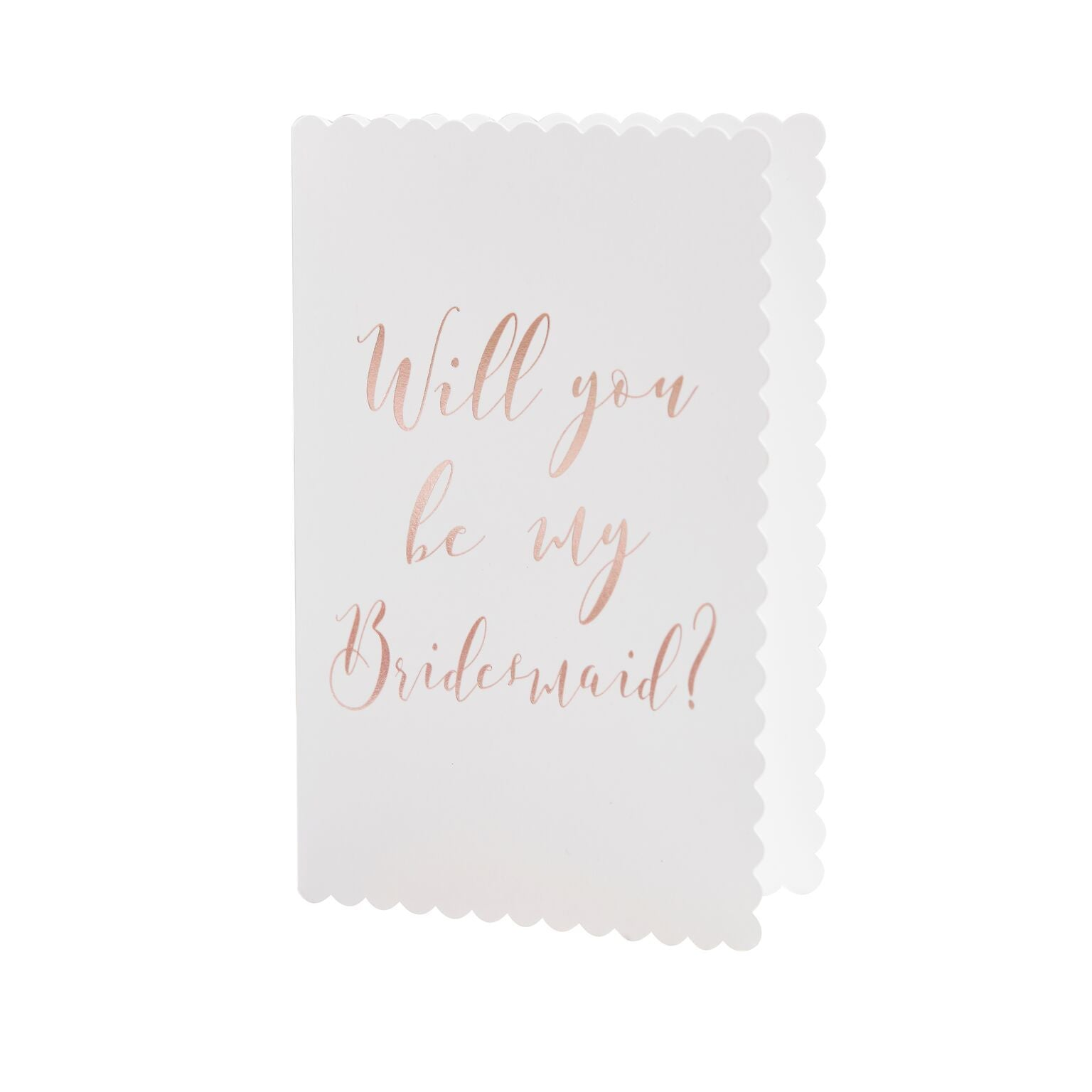 """Beautiful Botanics"" Rose Gold Will You Be My Bridesmaid Cards, GR-Ginger Ray UK, Putti Fine Furnishings"