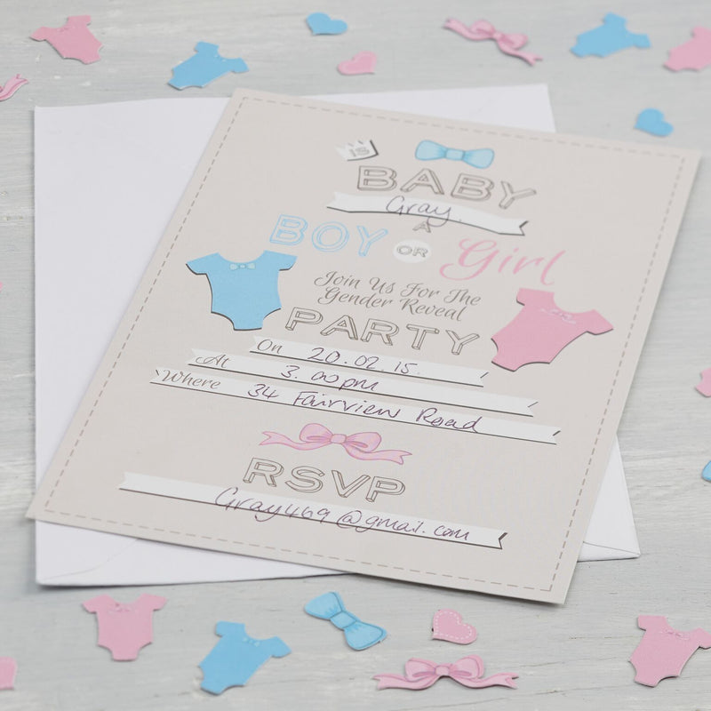 Little Lady or A Mini Mister Invitations, GR-Ginger Ray UK, Putti Fine Furnishings