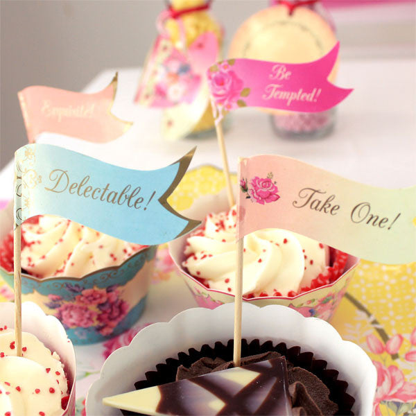 Truly Scrumptious Canape Flags -  Party Supplies - Talking Tables - Putti Fine Furnishings Toronto Canada - 3