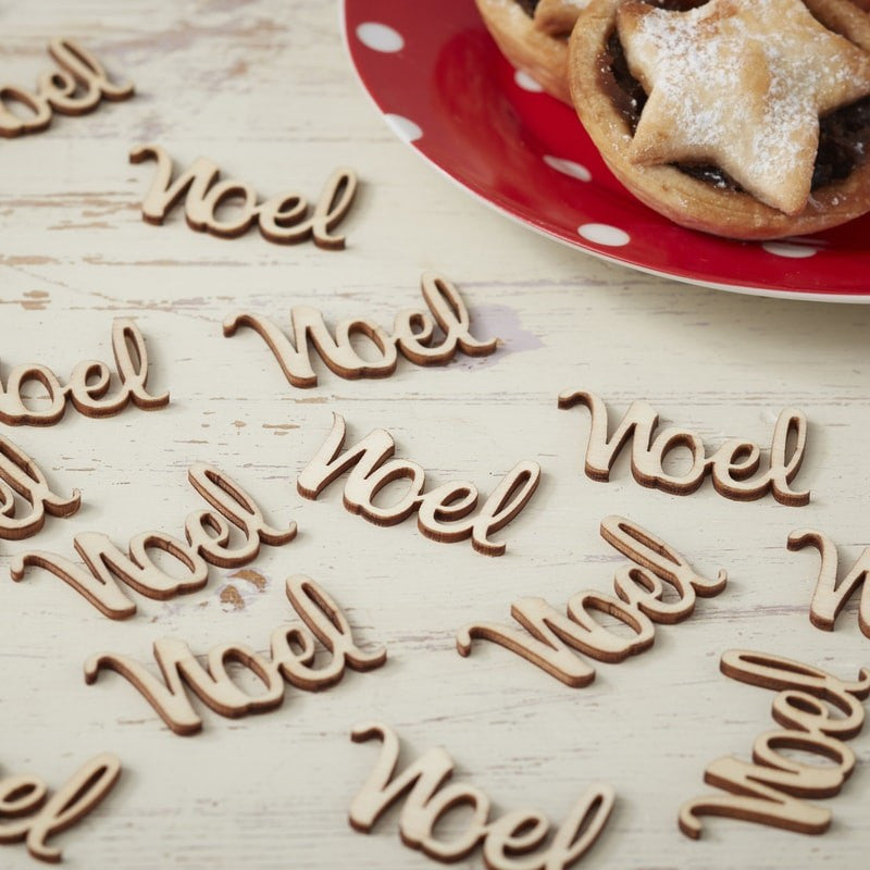 """Vintage Noel"" Wooden Table Confetti"