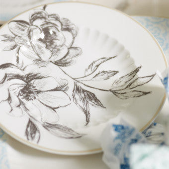 Designers Guild Watelet Tea Plate-Tableware-DG-Designers Guild-Putti Fine Furnishings