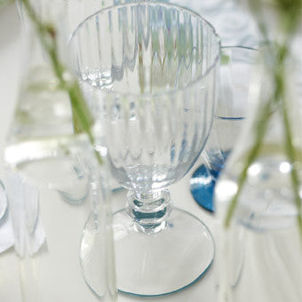 Designers Guild Watelet Lapis Stemmed Glassware-Glassware-DG-Designers Guild-Small 240 ml-Putti Fine Furnishings