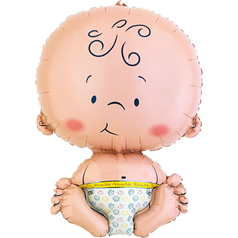 """Welcome Baby"" Shaped Baby Mylar Balloon, Surprize Enterprize, Putti Fine Furnishings"