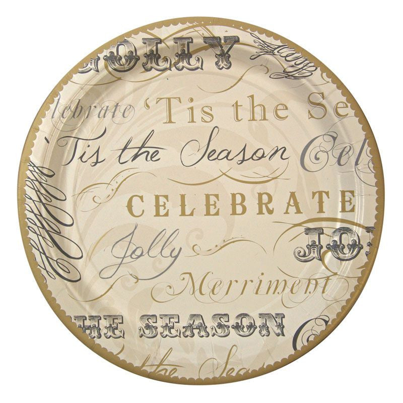 "Meri Meri Wendy Addison ""Tis the Season"" Paper Plate"