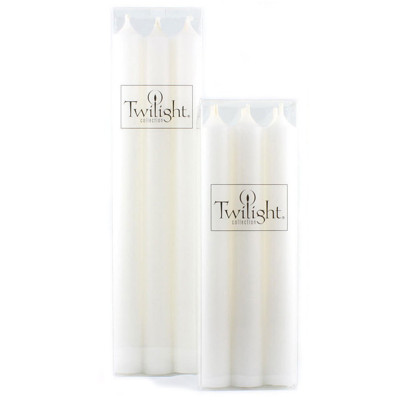 Twilight Taper Candles - White