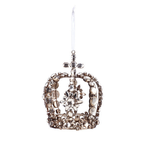 A gilded Life Jewelled Crown Ornament