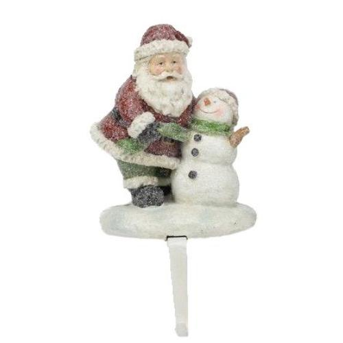 Santa with Snowman Stocking Holder