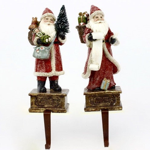 Pair of Victorian Santa Stocking Holders -  Christmas - WC-Winward Canada - Putti Fine Furnishings Toronto Canada