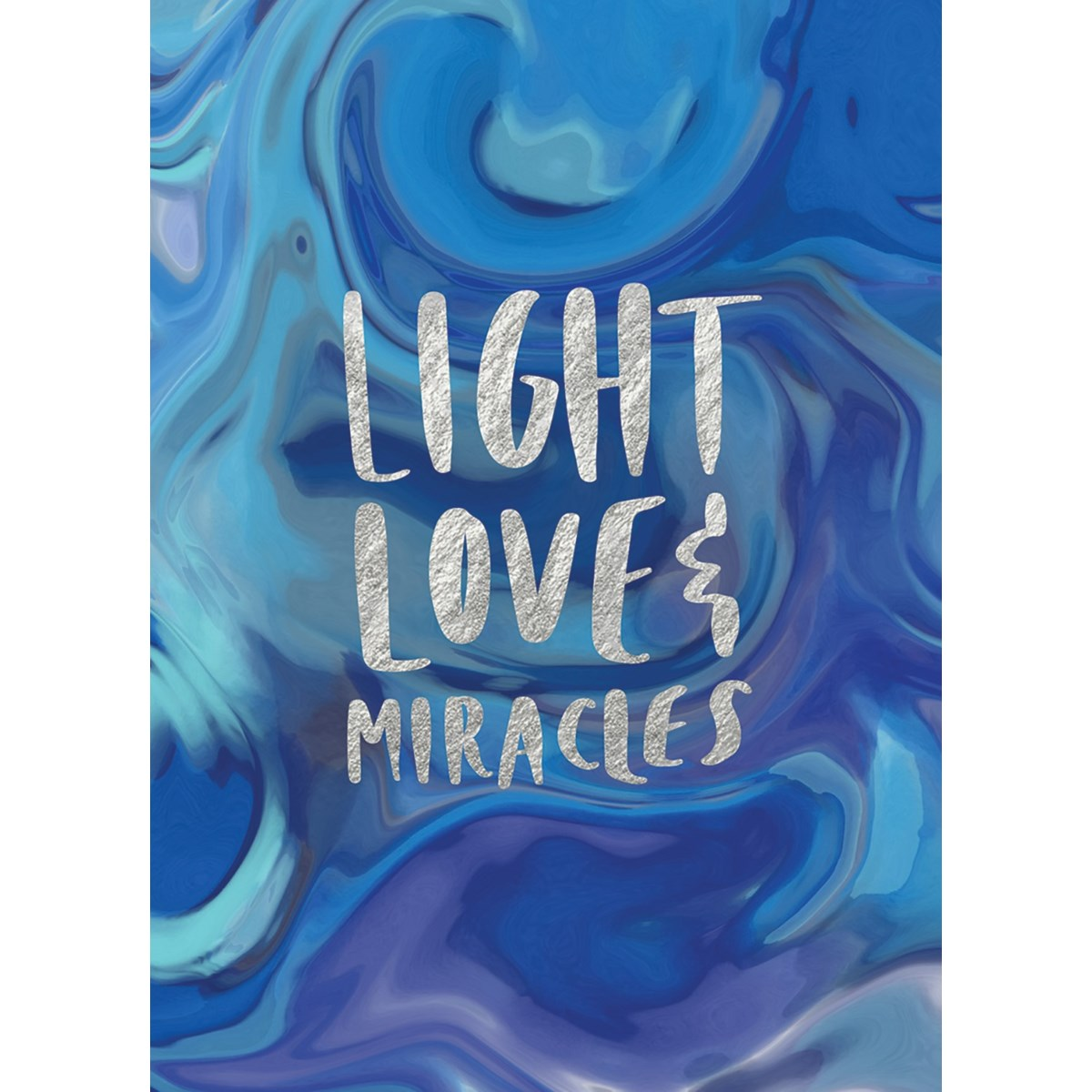 "Marble ""Love Light & Miracles"" Hanukkah Boxed Cards"