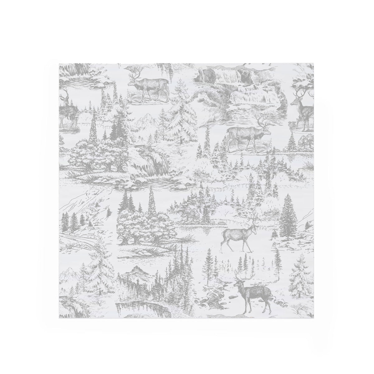 """Reindeer Toile"" Paper Napkin - Cocktail, Harman, Putti Fine Furnishings"