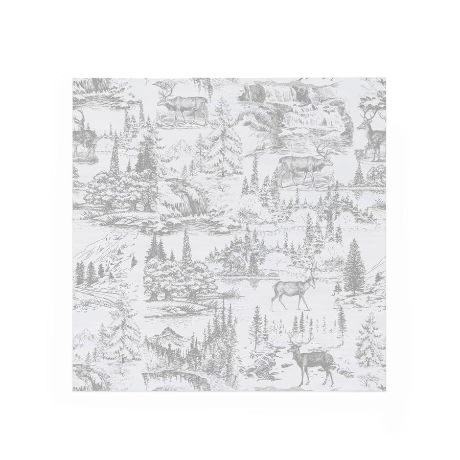 """Reindeer Toile"" Paper Napkin - Cocktail"