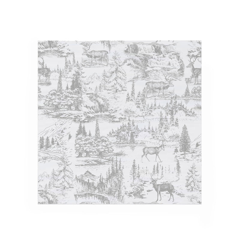 """Reindeer Toile"" Paper Napkin - Lunch, Harman, Putti Fine Furnishings"