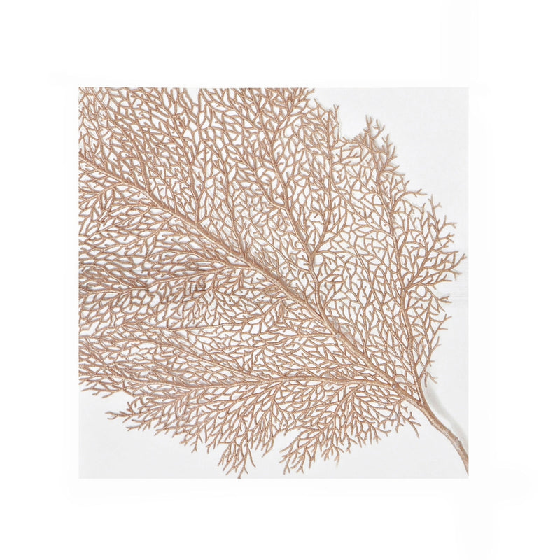 Gold Coral Paper Napkin - Lunch, Harman, Putti Fine Furnishings