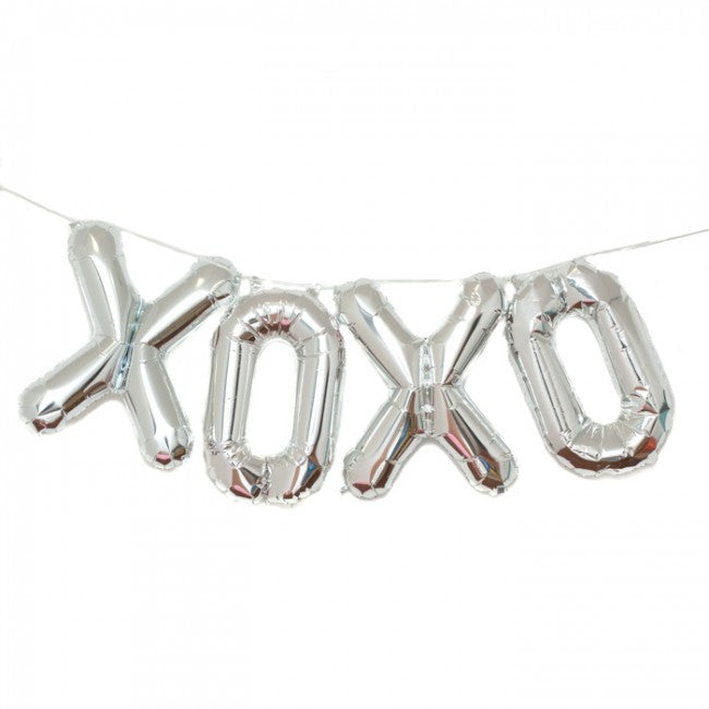 "Silver Foil ""XOXO"" Balloon Banner, Northstar Balloons, Putti Fine Furnishings"