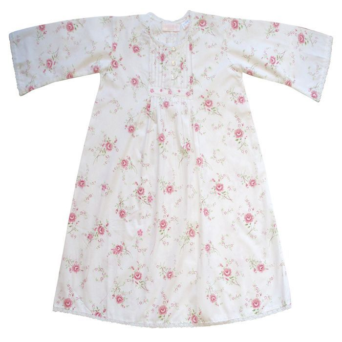 """Jenny"" Rose Floral Night Dress - Size 1-2 (Special Order 2 weeks) Night Gown - Powell Craft Uk - Putti Fine Furnishings Toronto Canada"