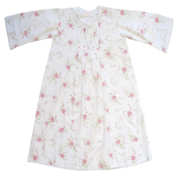 """Jenny"" Rose Floral Night Dress-Night Gown-PC-Powell Craft Uk-Size 1-2 (Special Order 2 weeks)-Putti Fine Furnishings"