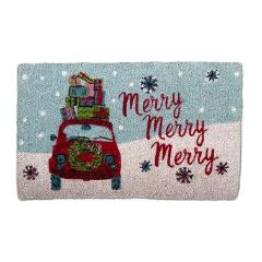 Whimsy Car Coir Doormat-Christmas-TAG- Design Home-Putti Fine Furnishings