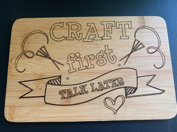 Craft first talk later
