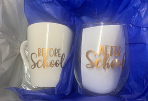 Teacher Mug & Glass gift box.