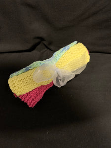 Dish Cloth - Yellow, Pink & blue mixed