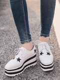 New White Square Toe Print Fashion Ankle Shoes
