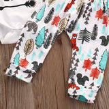 Newbabychic Thanksgiving Newbonr Infant Baby Boys Girls Clothes Long Sleeve Cotton Romper Pants Leggings Hat 3PCS Outfit Clothing Set