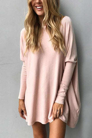 Round Neck Long Sleeve Loose Casual T-shirt
