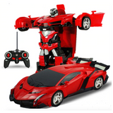 2-in-1 Remote Control Sports Car Transformation Robot Toy
