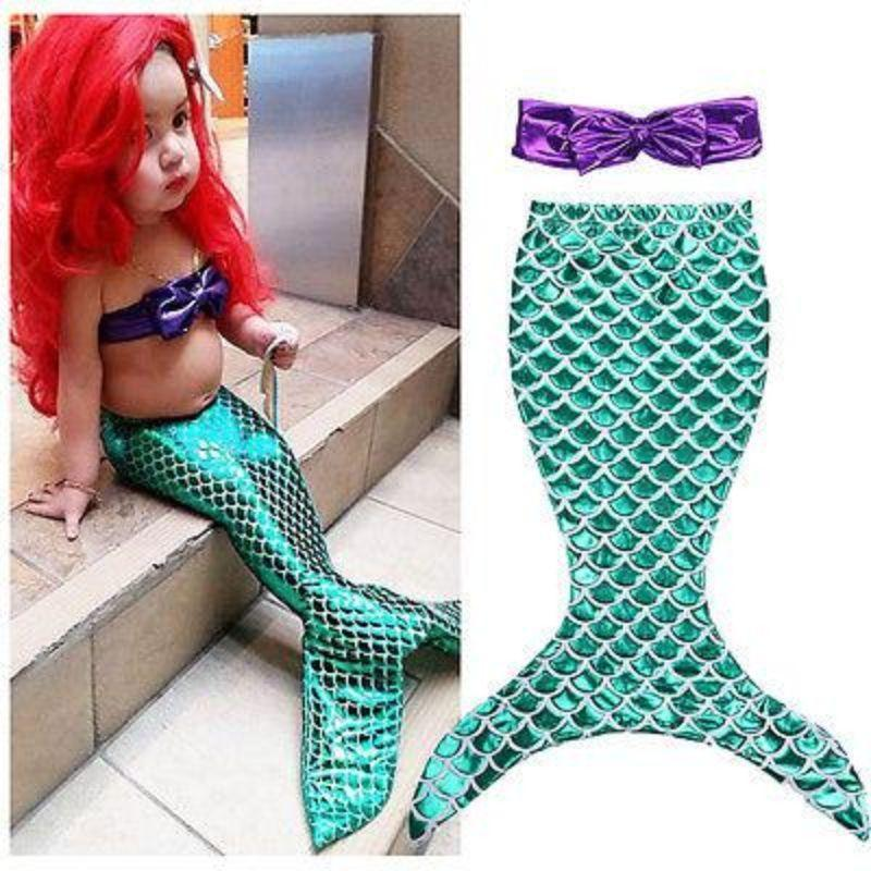 2 Piece Fashion Mermaid Outfit For Little Girl Kids Now Apparel