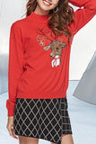 Onlinechoic Christmas handmade embroidered deer sweater