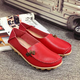 Onlinechoic Big Size Soft Multi-Way Wearing Pure Color Flat Loafers