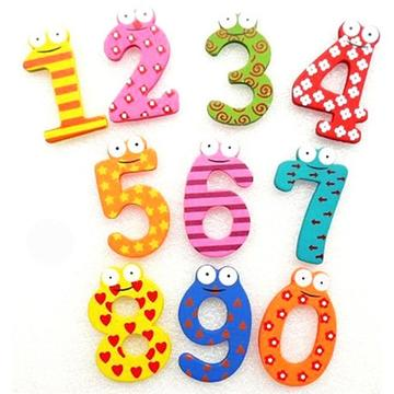 10pcs Wooden Magnetic Numbers Educational Toy