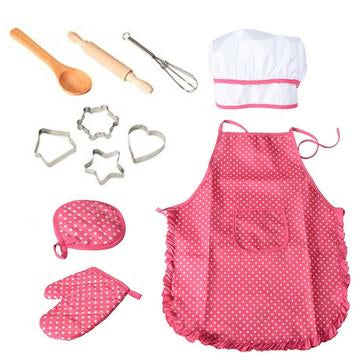 11 Pcs Chef Role Play Set With Accessories Toy