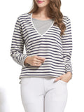 Newbabychic Striped Print Pregnancy Women Patchwork Nursing Tops