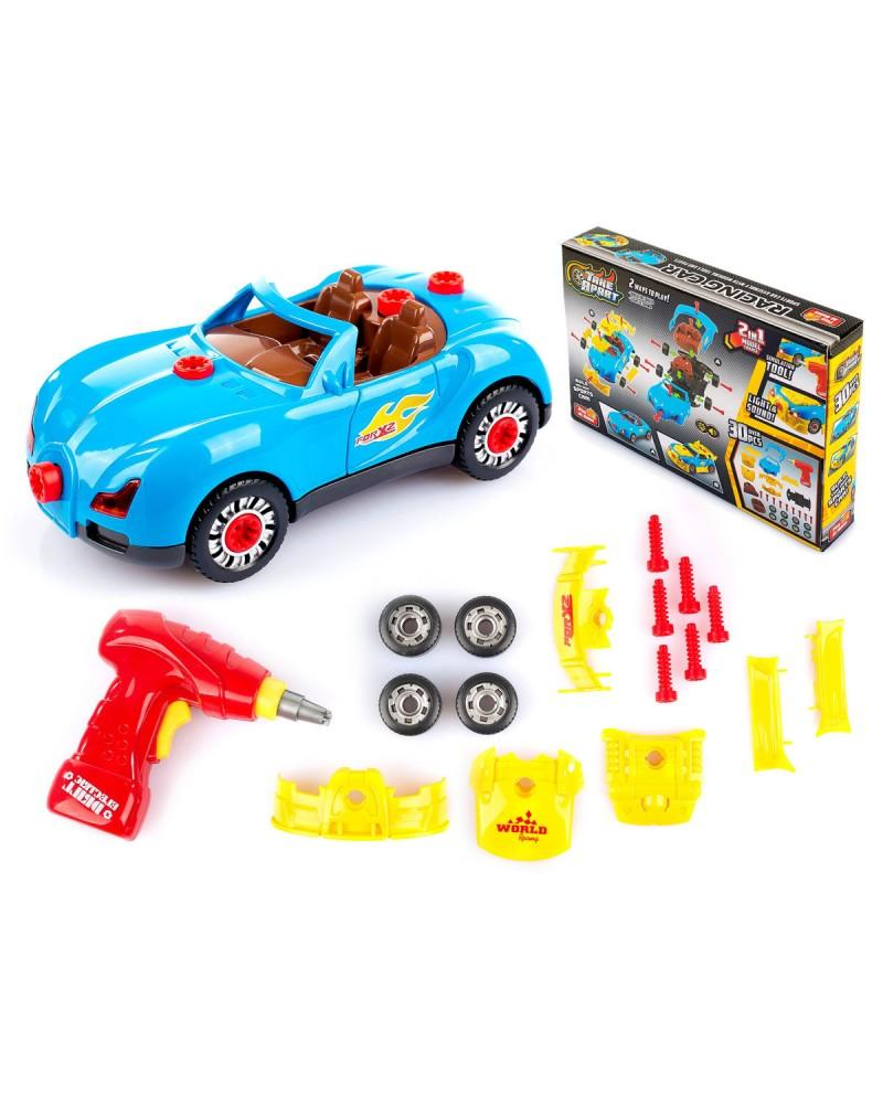 Blue Lighting Racing Car Toy
