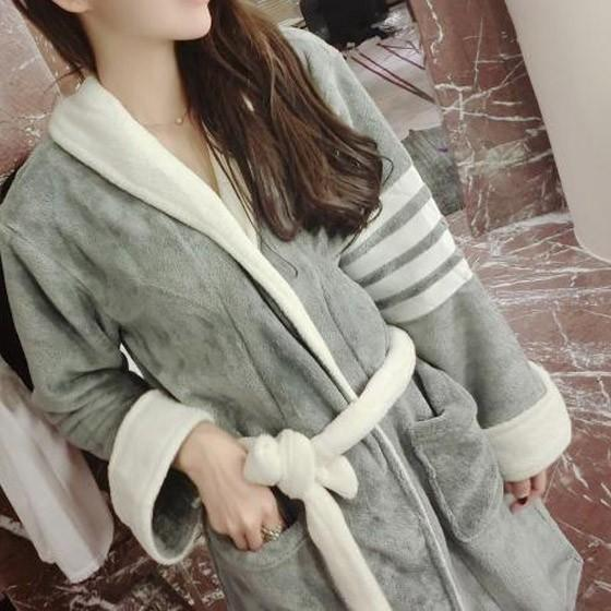 Grey Patchwork Sashes Pockets V-neck Long Sleeve Casual Coat