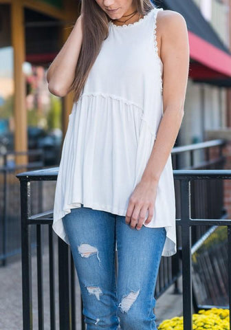 Black Draped Zipper High-low Casual Going out Vest