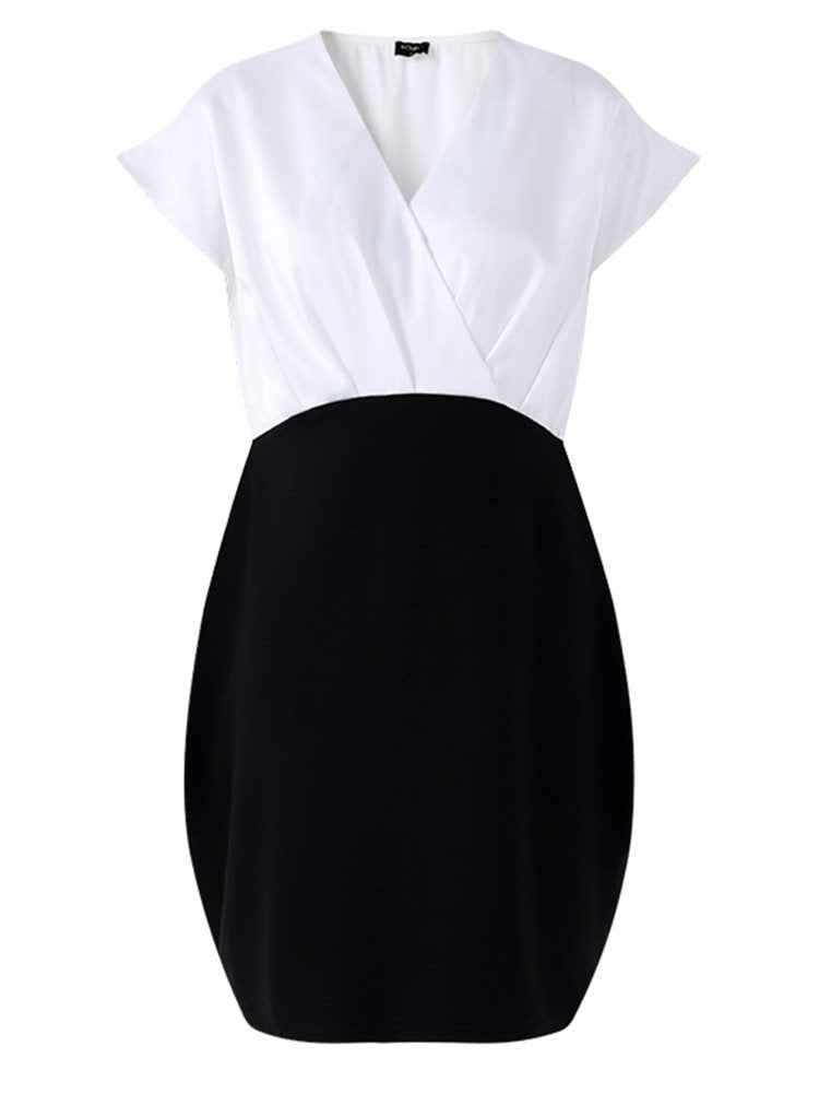 Newbabychic V-Neck Office Style Pregnant Women Dress
