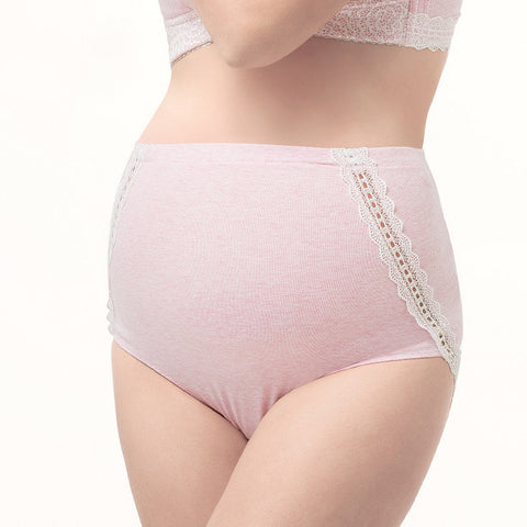 Newbabychic Lace Patch Maternity High Waist Comfy Panties