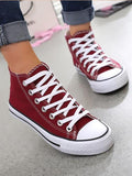 New Dark Red Round Toe Fashion Ankle Shoes
