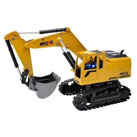 Baby Boys Simulation RC Excavator Toys with Music and Light Children's Boys RC Truck Toys Gifts RC Remote Control Car Toy