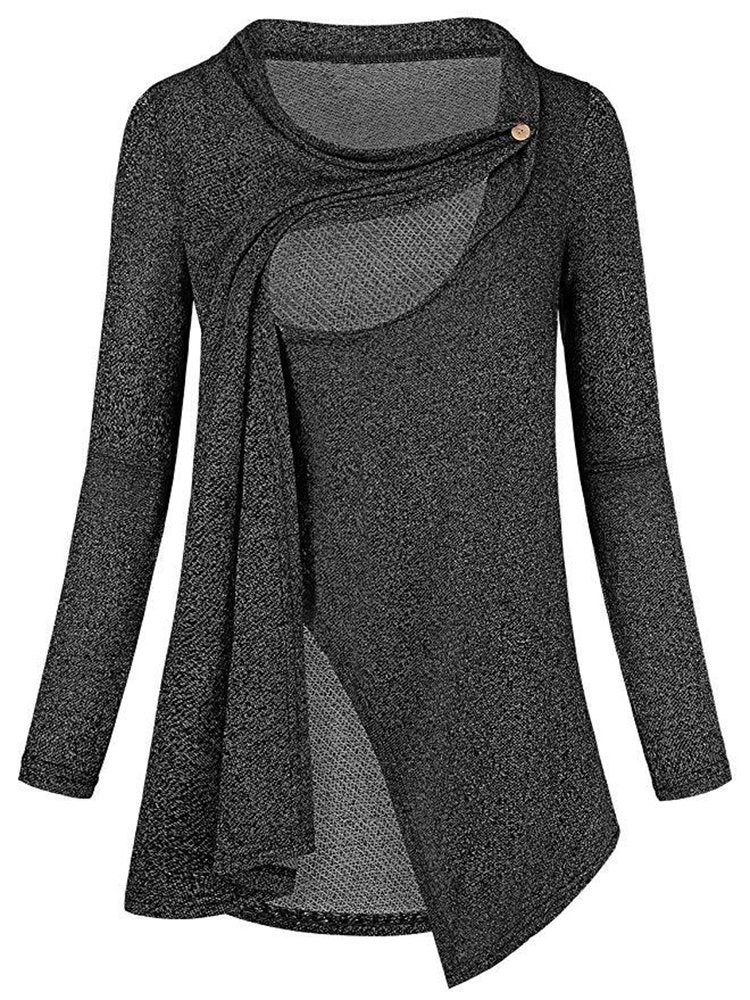 Newbabychic Casual Maternity Long Sleeve O-Neck Nursing Tops