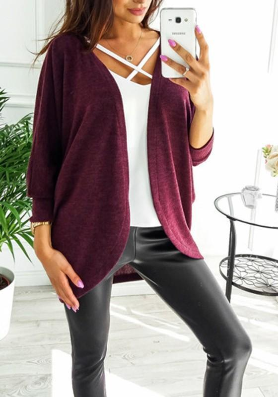 New Women Irregular Long Sleeve Casual Cotton Batwing Coat