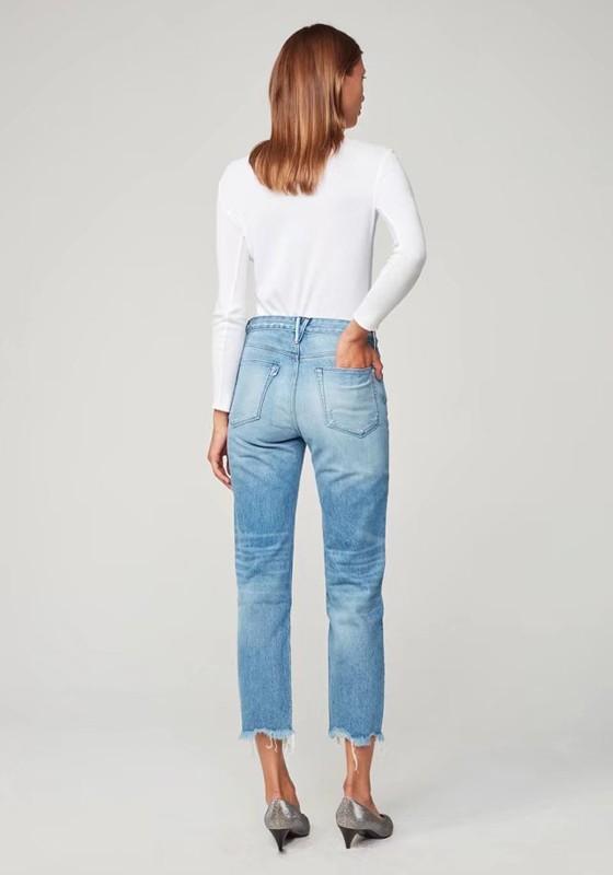 Light Blue Ripped Destroyed High Waisted Mom Casual Boyfriend Nine's Jeans