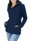 Newbabychic Casual Hooded Maternity Nursing Sweatshirt S-3XL