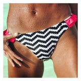 White Patchwork Ruffle 2-in-1 Polyester Swimwear