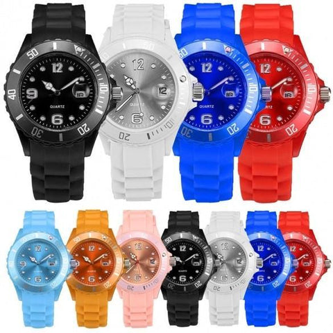Stylish Boys Girls Mens Women's Watches Wristwatch Rubber Band Analog Digital Wrist Watch