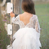 Amber- Princess Lace & Fringe Tulle Dress