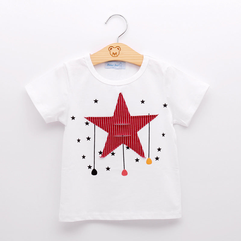 New Boy Clothing Sets With Cartoon Stars Design T-shirt + Shorts
